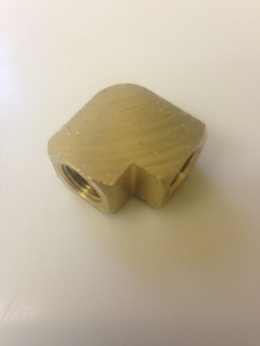 "1/8"" NPT Brass 90 Degree Elbow USA Machined From Solid Bar Stock-Top Quality"