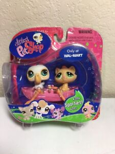 LPS Littlest Pet Shop WAL-MART #706 #707 Pelican Cat NEW IN BOX NIB Free Ship