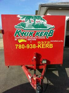 Kwik Kerb Continuous Concrete Edging Franchise For Sale ******* Edmonton Area image 2