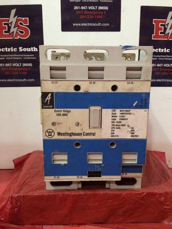 Westinghouse Advantage Contactor W201kgcf 120 Volt Coil 760 Amp Max