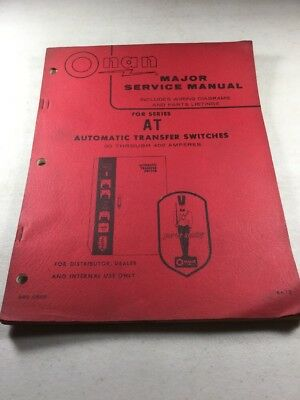 Onan At Automatic Transfer Switches 30 Through 400 Amp Major Service Manual