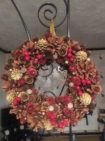 Christmas wreaths an crosses