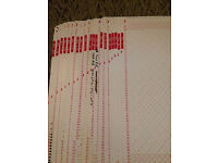 Knitmaster Punch Card Set 19 Cards No1-20 (sheet 19 Missing)!