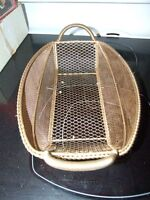 Gold coloured wire basket