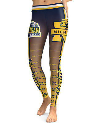 - Michigan Wolverines Leggings Small-XXL (0-14) Football College University Fan