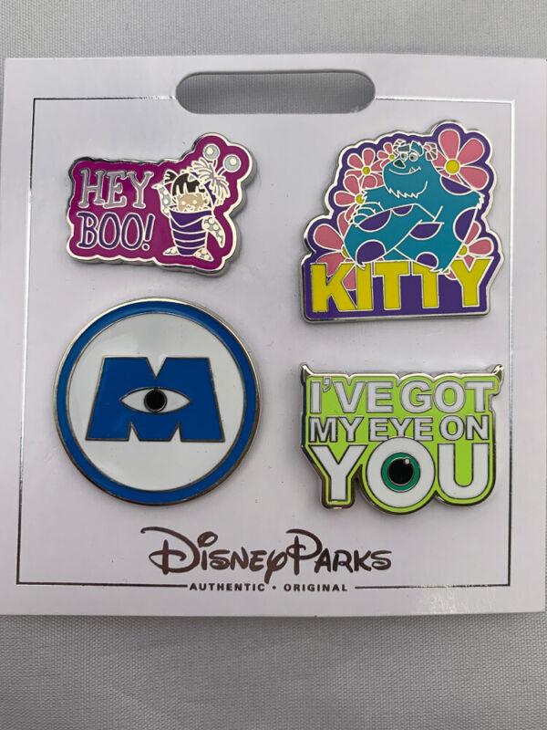 Disney Parks MONSTERS INC Boo Kitty! Mike Sully 4 pin set booster pack - NEW