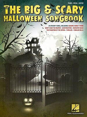 The Big & Scary Halloween Songbook Sheet Music Piano Vocal Guitar - Halloween Music Piano Sheet Music