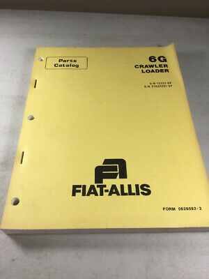 Allis Chalmers Fiat Allis 6g Crawler Loader Parts Catalog Manual