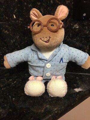 "1995 EDEN 14"" Plush ARTHUR Blue Pajamas Marc Brown Stuffed Aardvark Animal Doll"