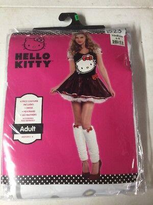NEW HALLOWEEN Costume Hello Kitty Adult Medium 6-8](Adult Hello Kitty Costume)