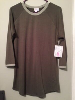 - LulaRoe Olive Green Randy With Lighter Green Piping Size M (NWT)
