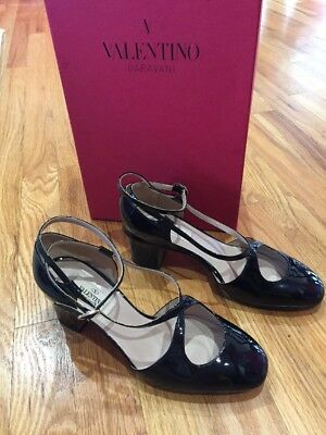 New sz 6.5 / 36 1/2 Valentino Black Patent Leather Shoes