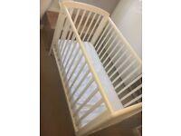 John Lewis white wooden cot