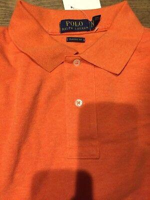Polo Ralph Lauren Men Classic Fit Interlock Polo Shirt M Medium Orange $89