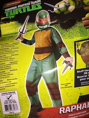 Teenage Mutant Ninja Turtles Raphael Kinder Kostüm Groß 12-14 Neu Halloween