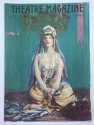 Antique Oct. 1917 Theatre Magazine Vol. 200 w/ Cover Art by Ira L. Hill Vintage