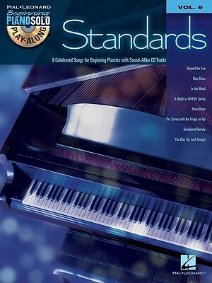 Standards Sheet Music Beginning Piano Solo Play-Along Book and CD NEW 000312253