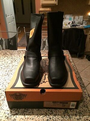 "Mens Harley Davidson ""Rare"" Eagle Harness Leather Boots Size 12 NiB"