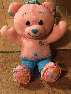Pink Doodle Bear Stuffed Bear Plush Fisher Price NO MARKERS Nice condition