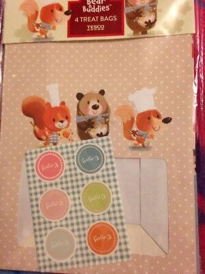 4 Treat Bags- Bobby Bear & Buddies.  Buddies Treat Bags