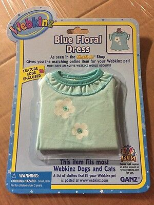 Webkinz Clothing Blue Floral Dress With Online Code From Ganz