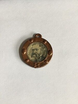 Antique 1889-93 Benjamin Harrison Political Pendant Token Pinback Button