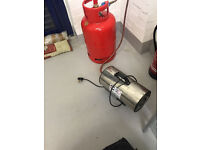 small propaine heater and gas bottle
