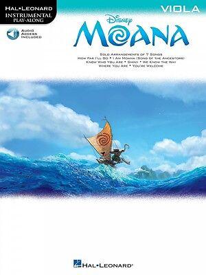 Moana Viola Instrumental Play-Along Book and Audio NEW 000224803