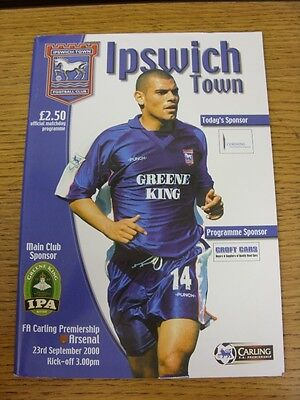 23/09/2000 Ipswich Town v Arsenal  (Excellent Condition)