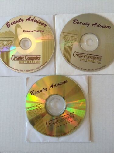 Vintage Beauty Advisor Software  3 CD-Rom Disks By Creative Computer Software