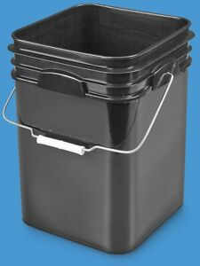 I need used or new square buckets with lids