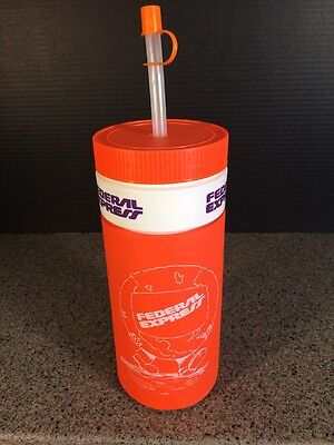 Vintage Federal Express   Fedex   Water Bottle   Insulated New Never Used