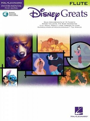 Disney Greats For Flute Instrumental Play-along Book And Audio New 000841934 With The Most Up-To-Date Equipment And Techniques Instruction Books, Cds & Video Musical Instruments & Gear