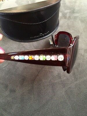 SALVATORE FERRAGAMO Womens Jeweled Sunglasses Bordeaux Only 1 On Ebay! NWT!