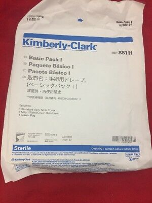 One New Kimberly-clark Basic Pack I 88111 Table Cover Mayo Stand Cover Bag