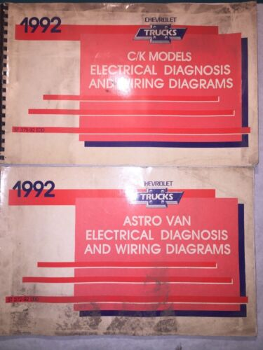 1992 Chevrolet C  K Ck 1500 2500 3500 Pickup Astro Van Wiring Diagrams Manual 92