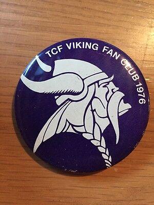 1976 2 1/4 Inch Minnesota Vikings TCF Fan Club Pinback Button, Nice!!