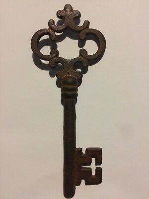 Victorian Master Door Iron Skeleton Key Vintage Antique style NR Heavy Cast