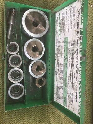Greenlee 7307 Slug Splitter Heavy Duty Knockout Punch Set