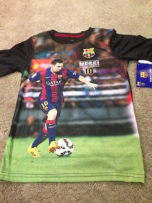 FC Barcelona Messi Youth Polyester T Shirt Tee. Size 6. Brand New.
