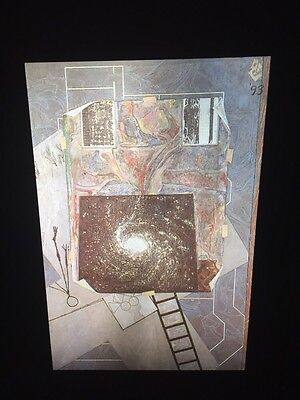 "Jasper Johns ""Mirror's Edge 2"" 35mm Color Slide. Pop Art Neo-dadaist"