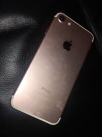 Selling I phone7 rose gold 128gb mint condition, unlocked to any network selling due to upgrade.