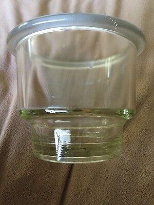 Pyrex Desicator Glass Jar 6 Diameter 5 Deep Thick Walls Without Top