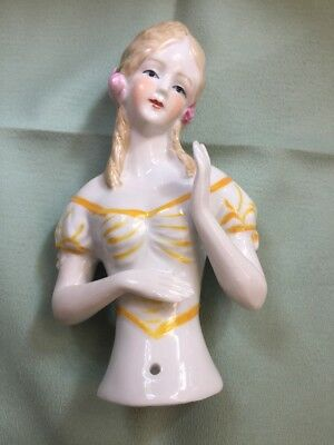 GORGEOUS 1920's STYLE VICTORIAN GIRL PIN CUSHION HALF DOLL, LARGE 5 - 1920s Girl