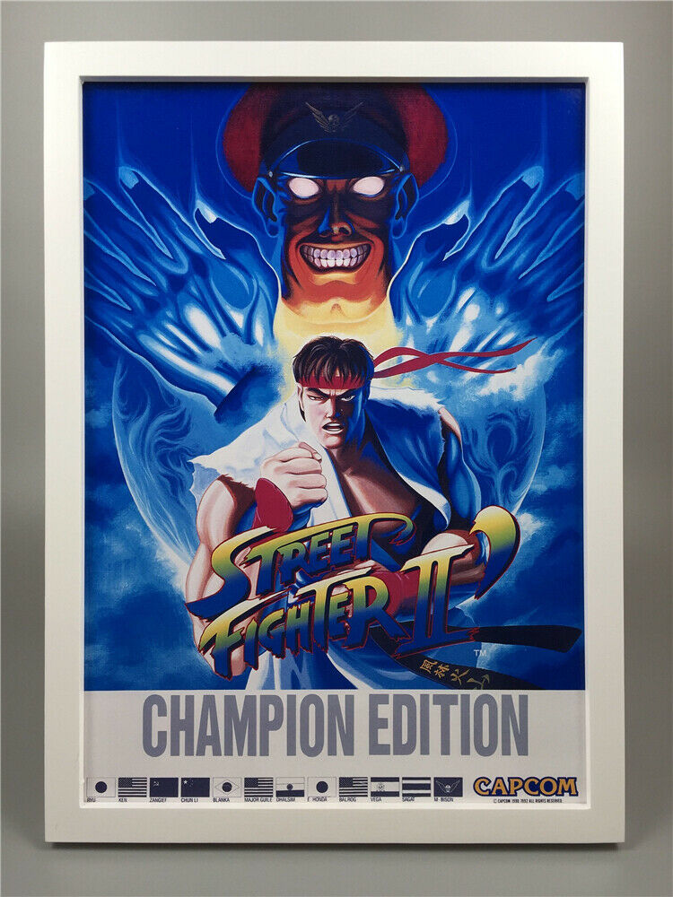 Framed Street Fighter Ii 2 Championship Edition Retro Arcade Game