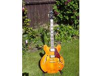 Beautiful Crafter SEG 450, Semi-Acoustic guitar, Tiger Maple top.
