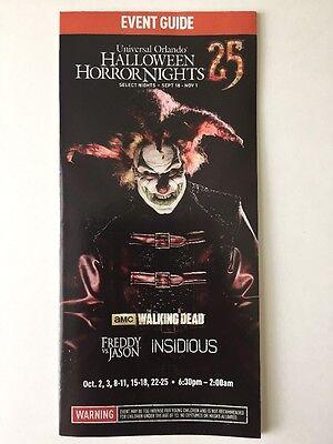 Halloween Horror Nights 2015 HHN 25 Guide Maps Universal Studios Florida Jack](Halloween Night Universal Studios Florida)