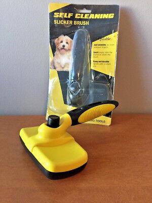 Qulable Dog Self Cleaning Slicker Brush