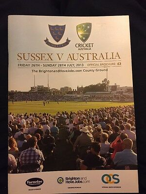 Sussex v Australia Tour Match Programme July 2013