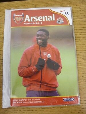 23/01/2005 Arsenal v Newcastle United  (Excellent Condition)